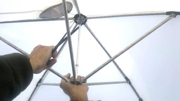 Сборка зонта (купола)