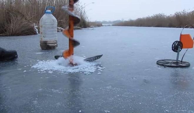зимний водоем